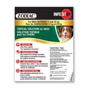 Zodiac Infestop Topical Flea Adulticide for Dogs 11KG - 25KG