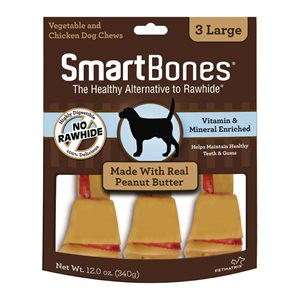 Spectrum Smart Bones Peanut Butter Large 3 Pack