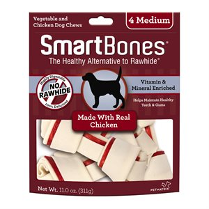 Spectrum Smart Bones Chicken Medium 4 Pack