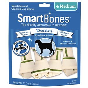 Spectrum Smart Bones Dental Medium 4 Pack