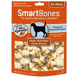 Spectrum Smart Bones Sweet Potato Mini 24 Pack