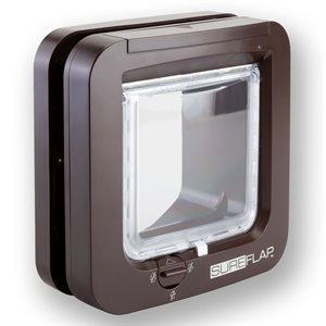SureFlap Dual Scan Microchip Cat Flap Brown