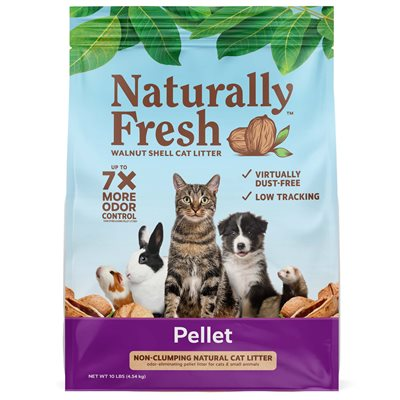 Eco-Shell Naturally Fresh Pellet Litter for Cats & Small Animals 10LB