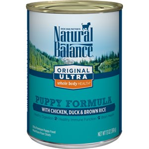 Natural Balance Puppy Original Chicken, Duck & Brown Rice Formula Cans 12 / 13oz