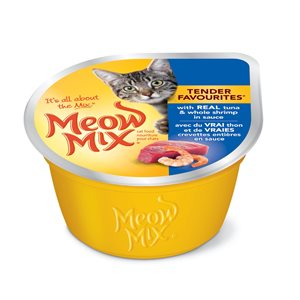 Smuckers Meow Mix Tender Favourites Tuna & Shrimp Wet Cat Food 24 / 78g