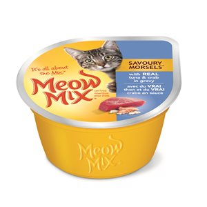 Smuckers Meow Mix Savoury Morsels Tuna & Crab Wet Cat Food 24 / 78g