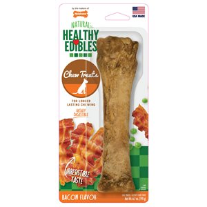 Nylabone Healthy Edibles Longer Lasting Bacon Bone Souper
