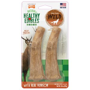 Nylabone Healthy Edibles Wild Antler Venison 2 Count Medium