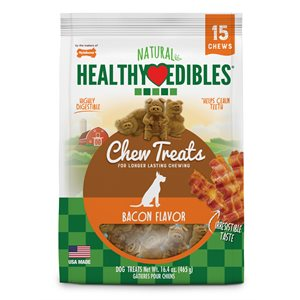 Nylabone Healthy Edibles Bacon Buddies Pigs Value 15 Count