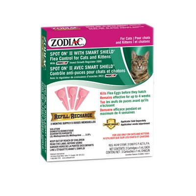 Zodiac SS Spot On II Cat / Kitten Refill