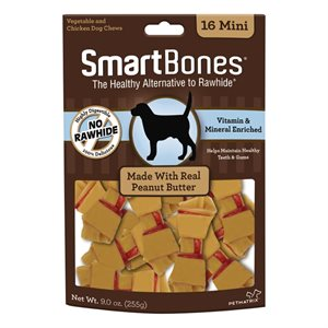 Spectrum Smart Bones Peanut Butter Mini 16 Pack