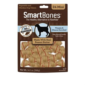Spectrum Smart Bones Peanut Butter Mini 24 Pack