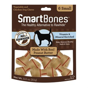 Spectrum Smart Bones Peanut Butter Small 6 Pack