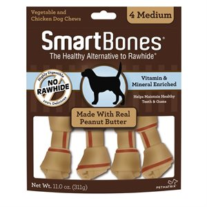 Spectrum Smart Bones Peanut Butter Medium 4 Pack
