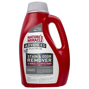 Spectrum Brands Nature's Miracle Platinum Virus Disinfectant Stain & Odor Remover for Dogs 64oz