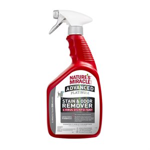 Spectrum Brands Nature's Miracle Platinum Virus Disinfectant Stain & Odor Remover for Dogs 32oz