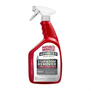 Spectrum Brands Nature's Miracle Platinum Virus Disinfectant Stain & Odor Remover for Cats 32oz