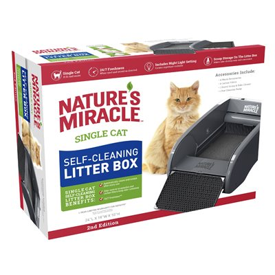 Spectrum Brands Nature's Miracle Self Cleaning Litter Box Single Cat