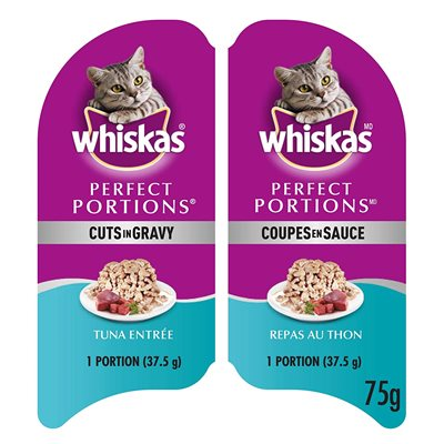 Whiskas Chat Adulte « Perfect Portions » Coupes en Sauce Thon 24 / 75g