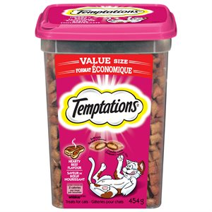 Temptations Cat Treats Hearty Beef 454g Tub