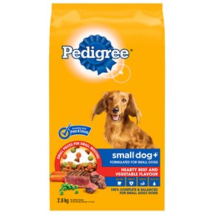 Pedigree Adult Small Dog+ Hearty Beef & Vegetable 2.8KG