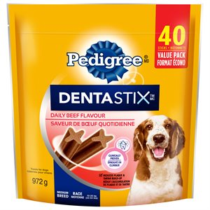 Pedigree Dentastix Beef Medium 40 Count 972g