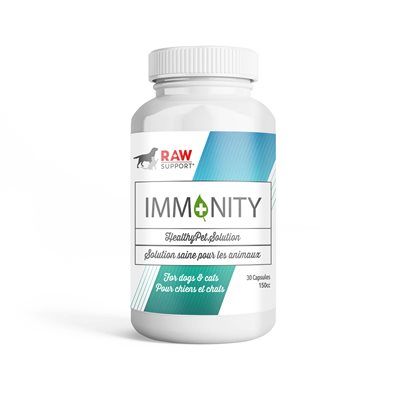 Raw Support Imm+nity Spirulina Supplement 30 Capsules
