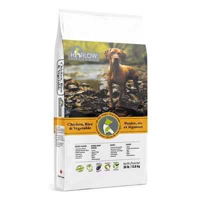Harlow Blend Dog Food Chicken Rice Vegetable Formula 30lbs