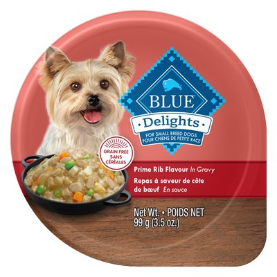 Blue Buffalo Delights Adult Dog Prime Rib in Gravy Flavor 12 / 3.5oz