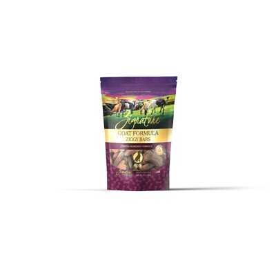 Zignature Ziggy Bars Goat Formula Biscuit Treats for Dogs 12oz