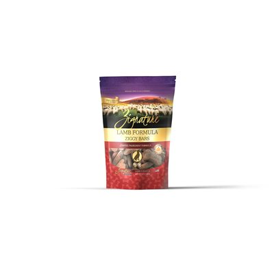 Zignature Ziggy Bars Lamb Formula Biscuit Treats for Dogs 12oz