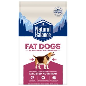 Natural Balance Targeted Nutrition Fat Dogs Chicken & Salmon Formula 5LB