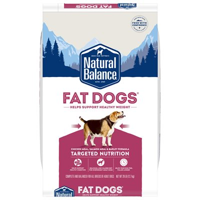 Natural Balance Targeted Nutrition Fat Dogs Chicken & Salmon Formula 28LB
