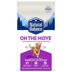 Natural Balance Targeted Nutrition Adult Dog On the Move Chicken Formula 4 LB