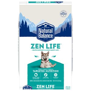 Natural Balance Targeted Nutrition Adult Dog Zen Life Turkey Formula 24 LB