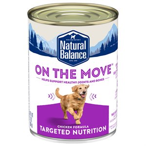 Natural Balance Targeted Nutrition Adult Dog On the Move Chicken Formula 12 / 13oz