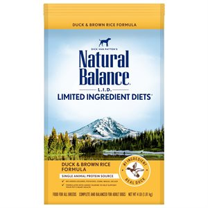 Natural Balance LID Adult Duck & Rice 4 LB