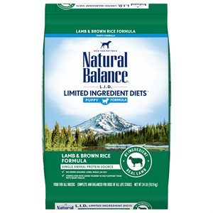 Natural Balance LID Puppy Lamb & Rice 24 LB