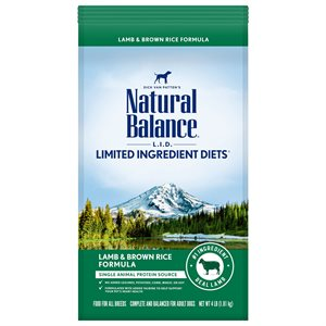 Natural Balance LID Adult Lamb & Rice 4 LB