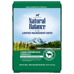 Natural Balance LID Adult Lamb & Rice 12 LB