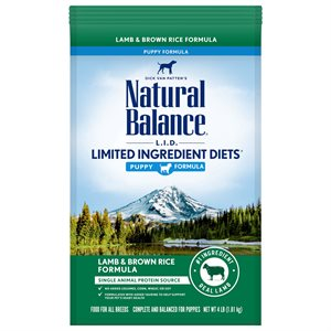 Natural Balance LID Puppy Lamb & Rice 4 LB
