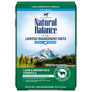Natural Balance LID Puppy Lamb & Rice 12 LB