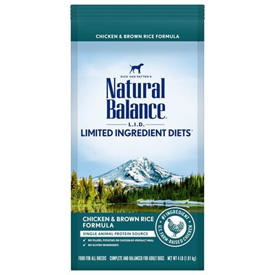 Natural Balance LID Adult Chicken & Rice 4 LB