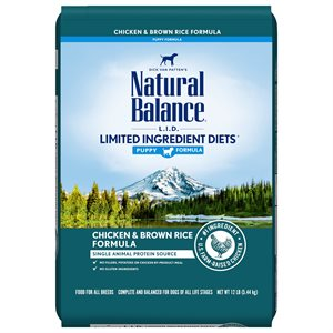 Natural Balance LID Puppy Chicken & Rice 12 LB