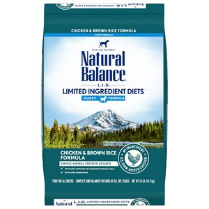 Natural Balance LID Puppy Chicken & Rice 24 LB
