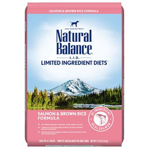 Natural Balance LID Adult Salmon & Rice 12 LB