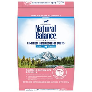 Natural Balance LID Puppy Salmon & Rice 24 LB