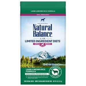Natural Balance LID Adult Lamb & Rice Small Bites 4 LB