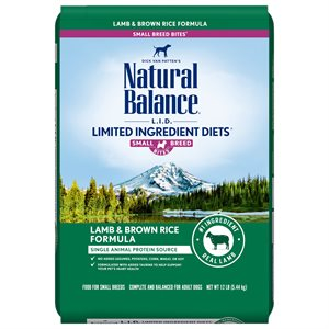 Natural Balance LID Adult Lamb & Rice Small Bites 12 LB