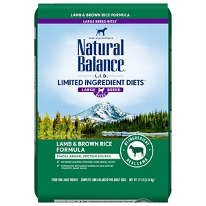 Natural Balance LID Adult Lamb & Rice Large Bites 12 LB
